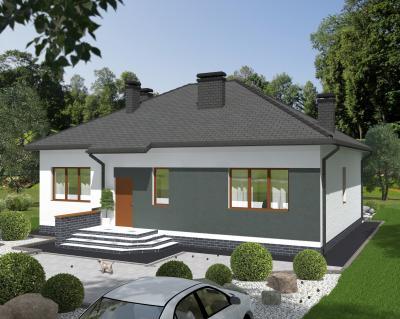 Дом 10.7 х 13.4 м площадью 167 м2 + проект