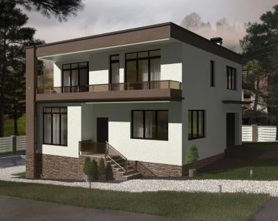 Дом 10,6 х 11 м площадью 236 м2 + проект