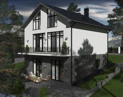Дом 10 х 10 м площадью 319 м2 + проект