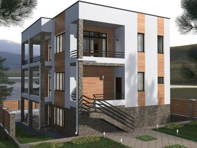 Дом 13.5 х 10 м площадью 380 м2 + проект