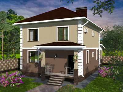 Дом 8.42 х 10.54 м площадью 208 м2 + проект