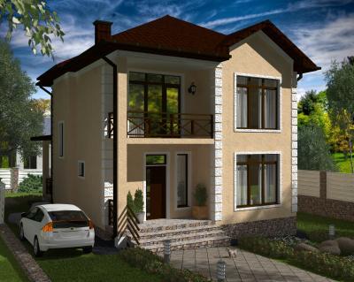 Дом 8.7 х 12.3 м площадью 192 м2 + проект
