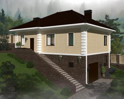 Дом 12,6 х 10,14 м площадью 215 м2 + проект