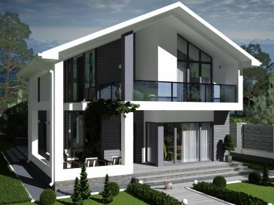 Дом 9,9 х 14,5 м площадью 404 м2 + проект