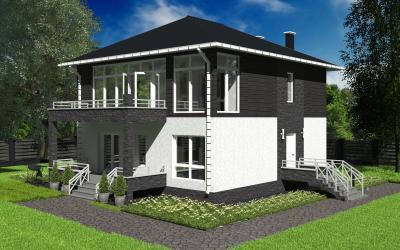 Дом 10,72*10,0 площадью 247 м2 + проект