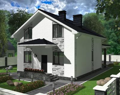 Дом 9 х 10 м (без террасы) площадью 186 м2 + проект