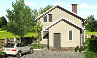 Дом 8.36х12.02 площадью 183 м2 + проект