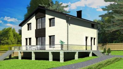 Дом 11,4х9,0 площадью 205 м2 + проект