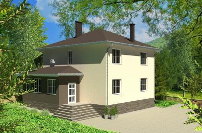 Дом 12,61х10,78 площадью 240 м2 + проект