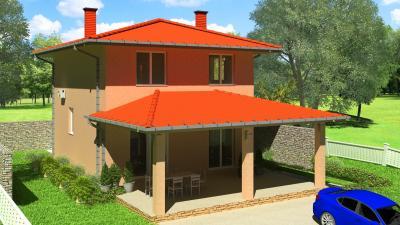 Дом 8,12х10 площадью 202 м2 + проект