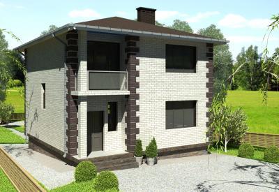 Дом 10*10 площадью 181 м2 + проект