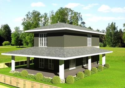 Двухэтажный дом площадью 144 м2 + проект