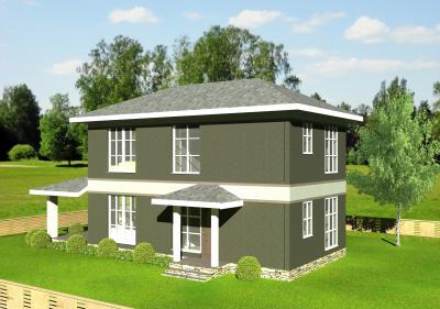 Двухэтажный дом площадью 120 м2 + проект
