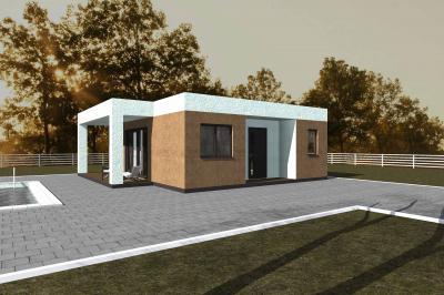 Дом 9,1х9,2 (терраса 10,08 м2) площадью 72 м2 + проект