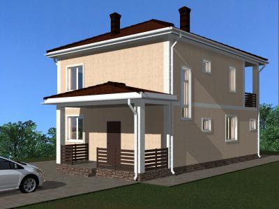 Дом 10.7#9.2 площадью 176 м2 + проект