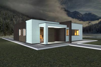 Дом 14.3х12.3 (включая большую террасу) площадью 153 м2 + проект