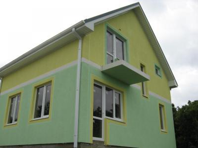 Дом 8.12 x 7.12 с балконом и простой крышей площадью 114 м2 + проект