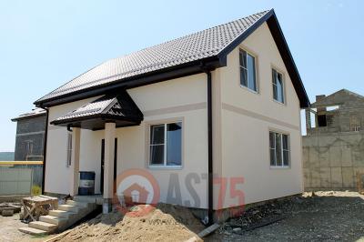 Дом 10 x 7.2 с крыльцом и простой крышей площадью 156 м2 + проект