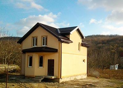 Дом 7 x 8 + 3 фронтона +эркер площадью 115 м2 + проект