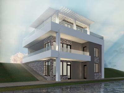 Индивидуальный двухэтажный жилой дом площадью 240 м2 + проект