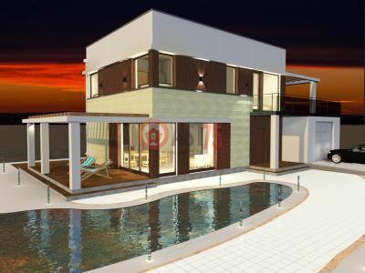 Двухэтажный дом с неэксплуатируемой кровлей площадью 243 м2 + проект