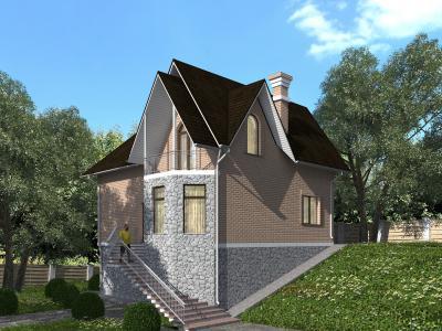 Двухэтажный дом с цокольным этажом площадью 339 м2 + проект