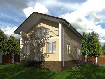 Полутораэтажный дом 7.7 м х 11.3 м площадью 180 м2 + проект