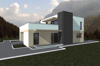 Дом 14,7х11,4 + большая терраса площадью 361 м2 + проект